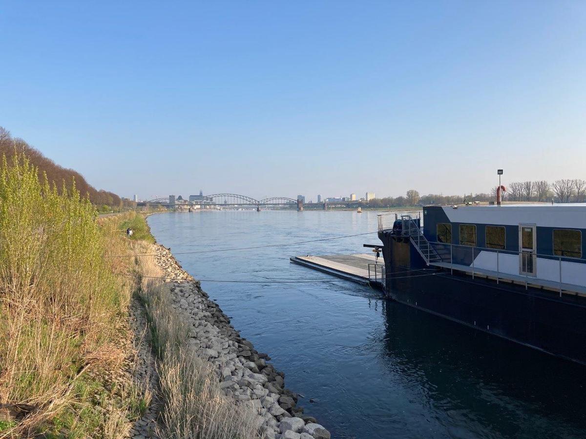 Probenahmestelle Rhein